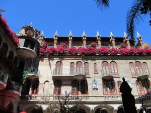 Mission Inn Courtyard with rotating Clock Tower!