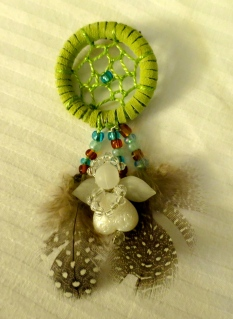 My beautiful dream catcher angel pin!