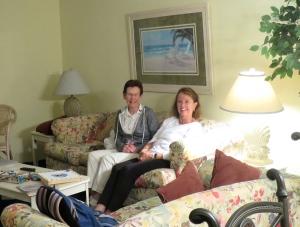 Sue and Carol enjoying some quality retreat time!