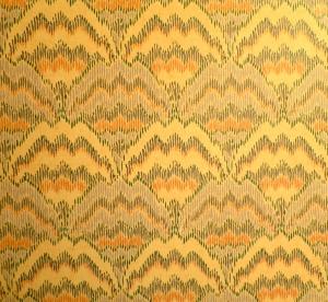 Bargello Wallpaper in the Bathroom!